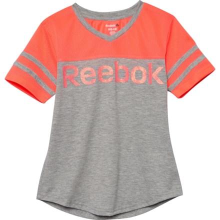 a79754be Reebok Mesh Collegiate T-Shirt - Short Sleeve (For Big Girls) in Medium