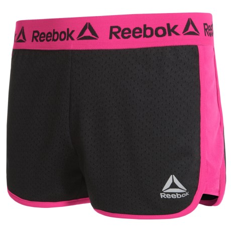 Reebok Mesh Court Shorts (For Big Girls) in Black