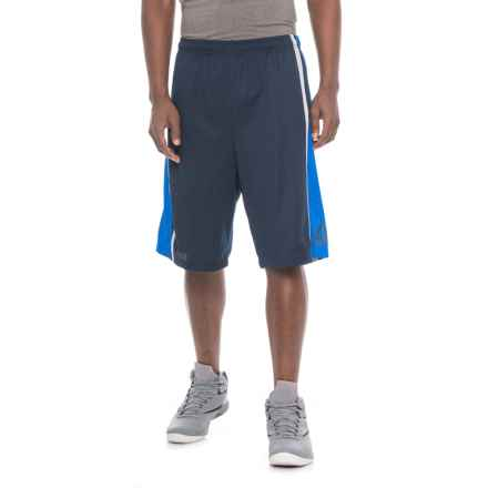 "Reebok Mesh Striped Basketball Shorts - 10"" (For Men) in Conrad Navy - Closeouts"