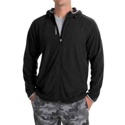 Reebok Microfleece Hooded Jacket (For Men) in Black - Closeouts