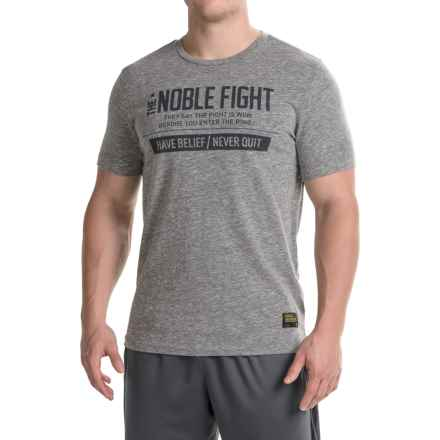 Reebok MMA Noble Fight T-Shirt - Short Sleeve (For Men) in Snow Slub Alloy - Closeouts