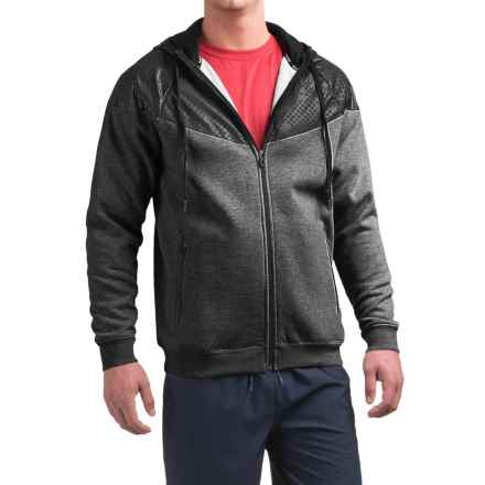 Reebok Motion Fleece Hoodie (For Men) in Charcoal Heather - Closeouts