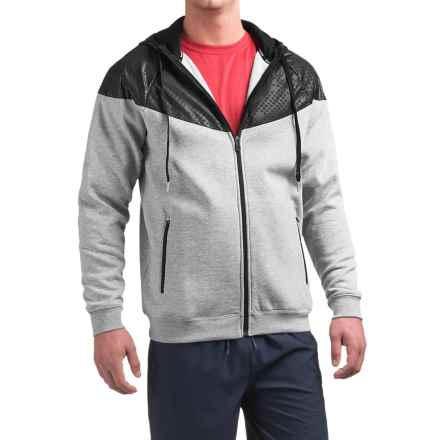 Reebok Motion Fleece Hoodie (For Men) in Grey Heather - Closeouts