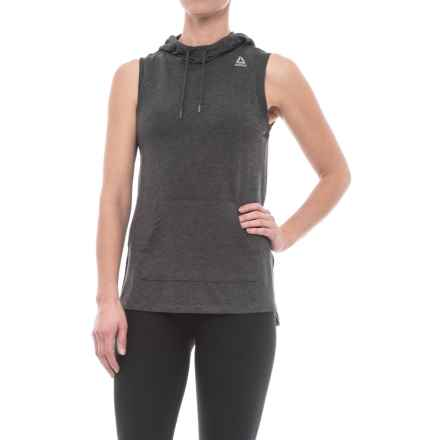 Reebok Move Hooded Tank Top (For Women) in Charcoal Heather - Closeouts