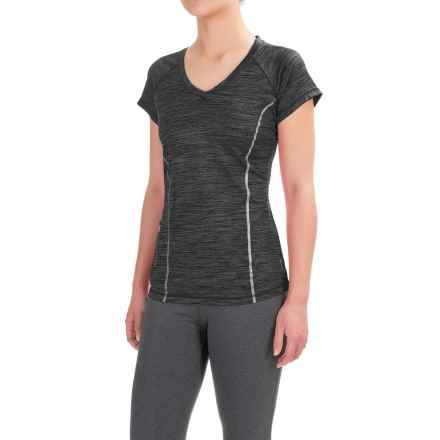 Reebok Moving Shirt - Short Sleeve (For Women) in Black Heather - Closeouts