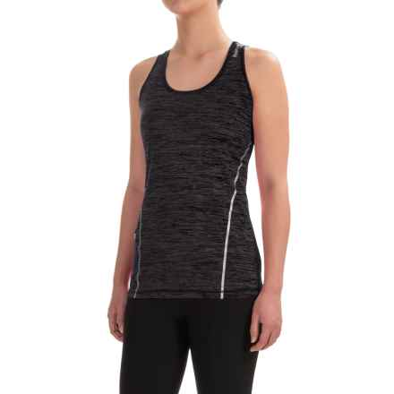 Reebok Moving T-Back Singlet Shirt - Sleeveless (For Women) in Black Heather - Closeouts