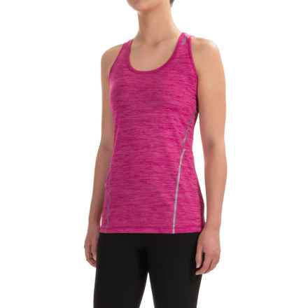 Reebok Moving T-Back Singlet Shirt - Sleeveless (For Women) in Fuchsia Red Heather - Closeouts