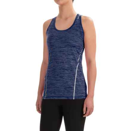 Reebok Moving T-Back Singlet Shirt - Sleeveless (For Women) in Medieval Blue Heather - Closeouts