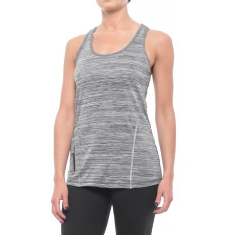 Reebok Moving T-Back Singlet Tank Top (For Women) in Black Heather