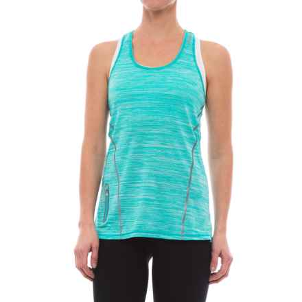 Reebok Moving T-Back Singlet Tank Top (For Women) in Ceramic Heather - Closeouts