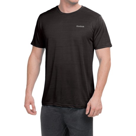 Reebok Neptune Shirt - Short Sleeve (For Men) in Black Heather