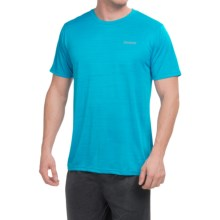Reebok Neptune Shirt - Short Sleeve (For Men) in Neon Blue Heather - Closeouts