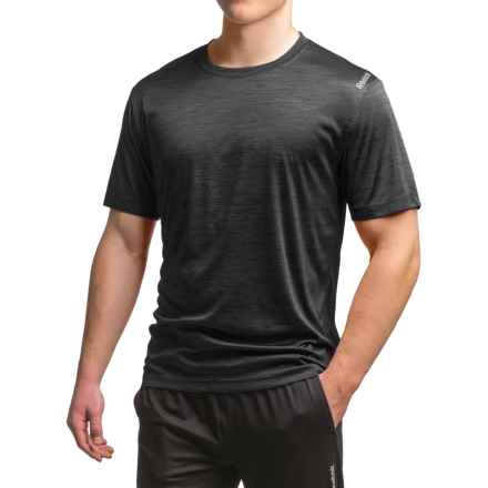 Reebok Neptune T-Shirt - Short Sleeve (For Men) in Black Heather - Closeouts