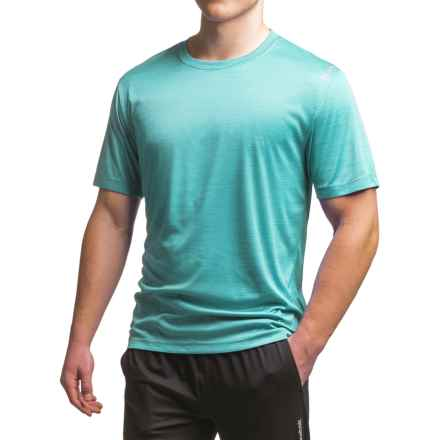 Reebok Neptune T-Shirt - Short Sleeve (For Men) in Blue Radiance Heather - Closeouts