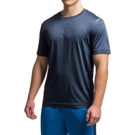 Reebok Neptune T-Shirt - Short Sleeve (For Men) in Navy Heather - Closeouts