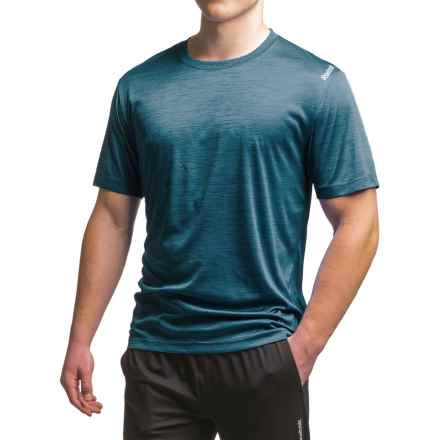 Reebok Neptune T-Shirt - Short Sleeve (For Men) in Tactical Blue Heather - Closeouts