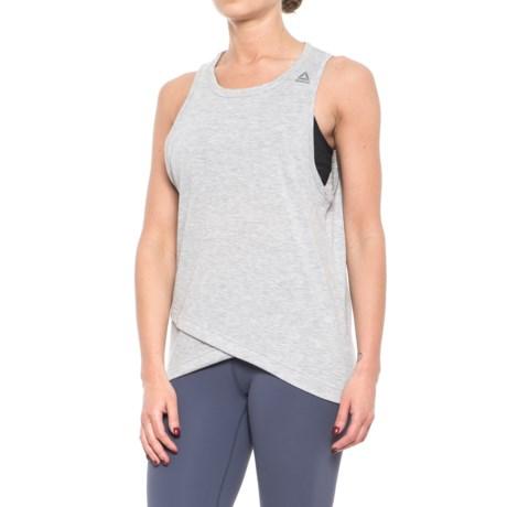 Reebok New Wellness Tank Top (For Women) in Light Grey Heather