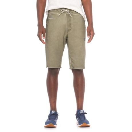 Reebok Noble Fight Vintage-Washed Shorts (For Men) in Khaki