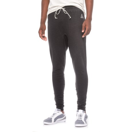 Reebok Noble Fight Waffle-Knit Leggings (For Men) in Black