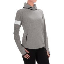 Reebok ONE Series Advance Cowl Neck Shirt - Slim Fit, Long Sleeve (For Women) in Gravel - Closeouts