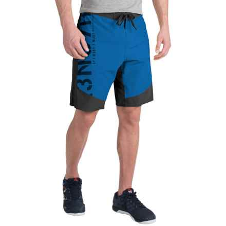 Reebok ONE Series S7R3NG7H Boardshorts (For Men) in Black/Handy Blue - Closeouts
