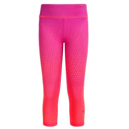 Reebok Optic Vibration Active Capris (For Big Girls) in Festival Pink - Closeouts