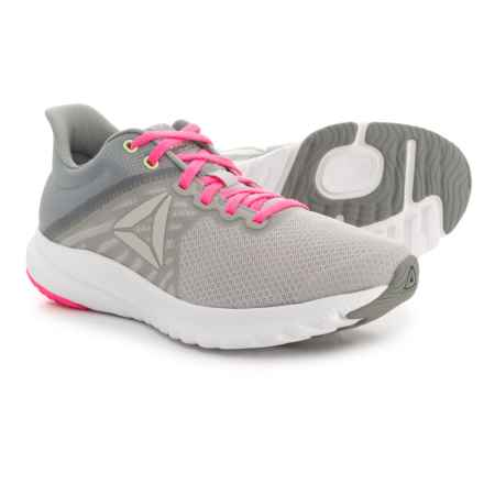 Reebok OSR Distance 3.0 Running Shoes (For Women) in Skull Grey/White/Flat Grey/Poison Pink/Solar Yello - Closeouts