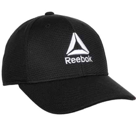 Reebok Performance Pique Mesh Cap (For Men) in Black - Closeouts