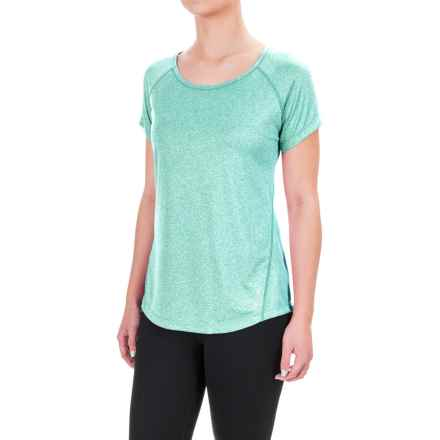 Reebok Performer Shirt - Short Sleeve (For Women) in Ceramic Heather Solid - Closeouts