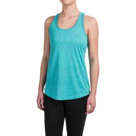 Reebok Performer Singlet Shirt - Racerback, Sleeveless (For Women) in Ceramic Heather Solid - Closeouts