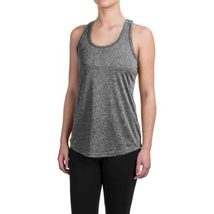 Reebok Performer Singlet Shirt - Racerback, Sleeveless (For Women) in Charcoal Heather Solid - Closeouts