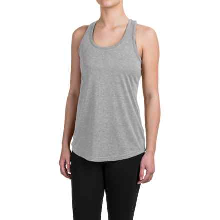 Reebok Performer Singlet Shirt - Racerback, Sleeveless (For Women) in Grey Heather Solid - Closeouts