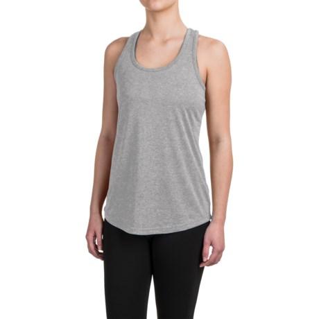 Reebok Performer Singlet Shirt - Racerback, Sleeveless (For Women) in Grey Heather Solid