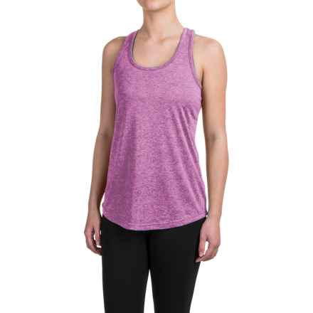Reebok Performer Singlet Shirt - Racerback, Sleeveless (For Women) in Iris Orchid Heather Solid - Closeouts