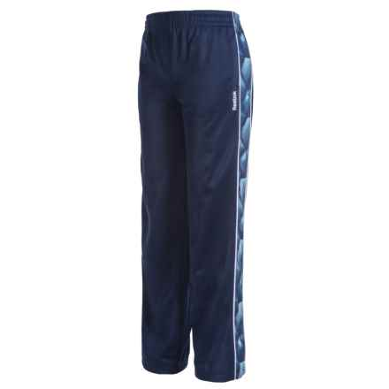 Reebok Piped Tricot Pants (For Big Boys) in Bright Navy - Closeouts
