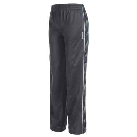 Reebok Piped Tricot Pants (For Big Boys) in Ebony - Closeouts