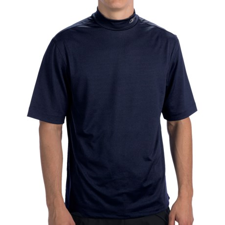 Thick Necked Reebok Playdry T Shirt Mock Neck Short