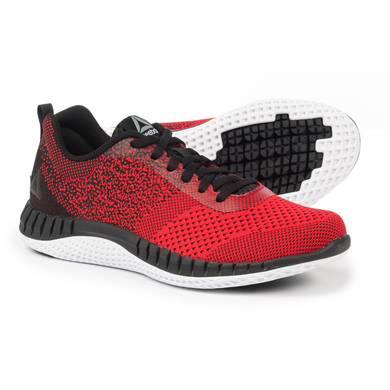 Reebok Print Prime Ultra-Knit Running Shoes (For Boys) in Primal Red/