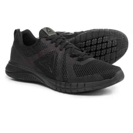 Reebok Print Run 2.0 Running Shoes (For Men) in Black/Coal - Closeouts