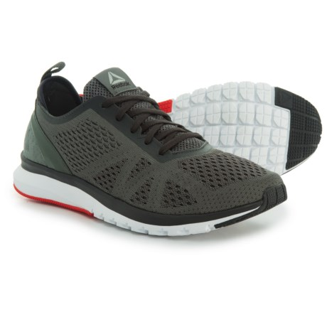 Reebok Print Smooth Clip Ultraknit Running Shoes (For Men) in Ironstone/Coal/White/Glow Red