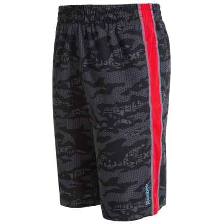 Reebok Printed Woven Shorts (For Little Boys) in Black - Closeouts