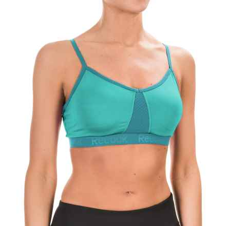 Reebok Propel Deluxe Sports Bra - Medium Impact, Removable Cups (For Women) in Ceramic - Closeouts