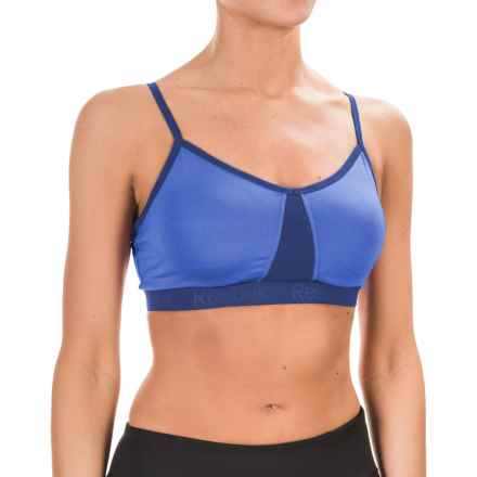 Reebok Propel Deluxe Sports Bra - Medium Impact, Removable Cups (For Women) in Palace Blue - Closeouts
