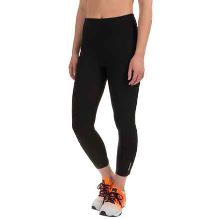 Reebok Quick Capri Leggings - High Rise (For Women) in Black - Closeouts