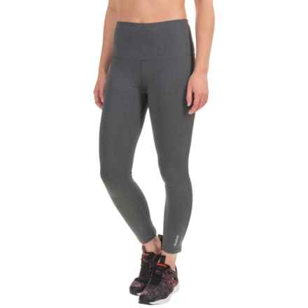Reebok Quick Capri Leggings - High Rise (For Women) in Charcoal Heather - Closeouts