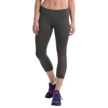 Reebok Quick Crop Capris (For Women) in Charcoal Heather - Closeouts