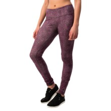 Reebok Quick Modular Leggings (For Women) in Purple Wine - Closeouts