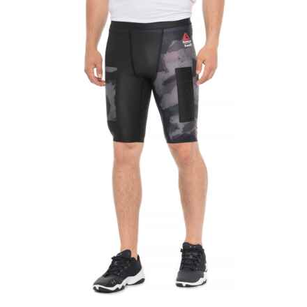 Reebok RCF Compression Shorts (For Men) in Black - Closeouts
