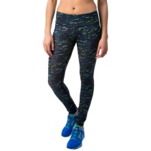 Reebok Remaster Printed Leggings (For Women) in Dazzling Blue - Closeouts