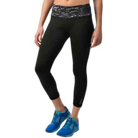 Reebok Remaster Skinny Capris (For Women) in Black - Closeouts